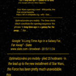 Star Wars easter egg – výsledky z mobilu (3)