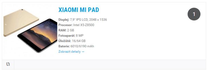 Xiaomi Mi Pad katalog