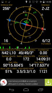 Acer Liquid Jade - GPS status, satelity