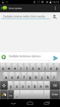 Acer Liquid Jade - klávesnice Swype
