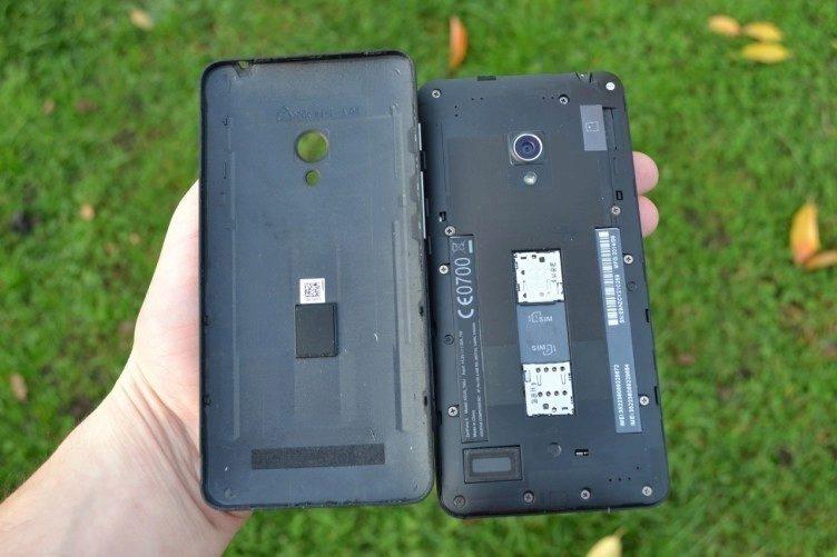 Zadní kryt lze odejmout, baterie ovšem ne