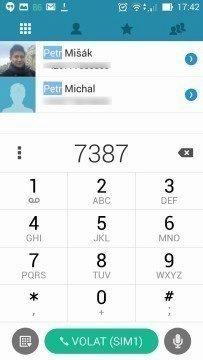 Asus Zenfone 5 -  T9 dialer