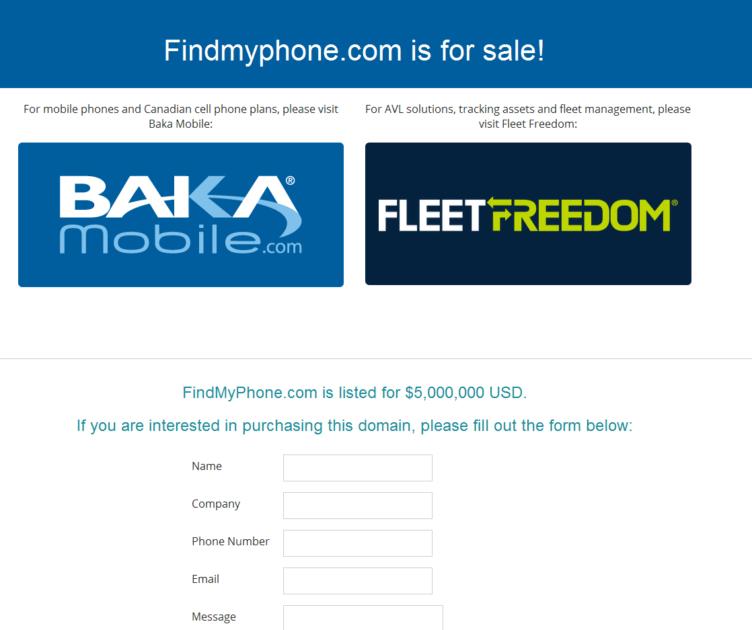 Doména FindMyPhone.com je na prodej za 5 milionů dolarů
