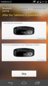 Huawei TalkBand B1 - konektivita