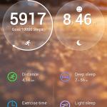 Huawei TalkBand B1 – úvodní obrazovka