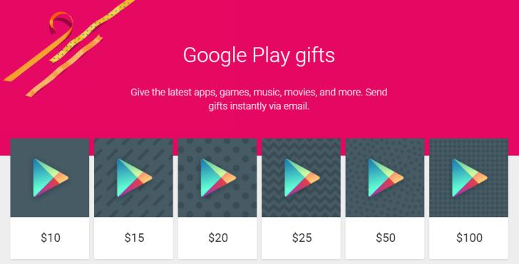 Obchod Play: dárkovou kartu lze poslat e-mailem