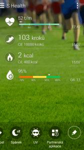 Samsung Galaxy Note 4 -  aplikace S-Health (2)