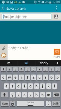 Samsung Galaxy Note 4 - klávesnice