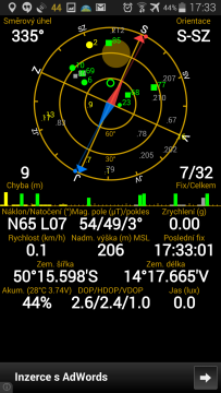 Samsung Galaxy Note 4 - satelity GPS