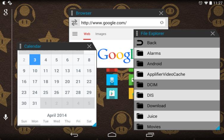 Nativní podpora více oken v systému Android