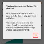 Nastavení limitu mobilních dat