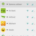 Uživatelské rozhraní aplikace NetGuard