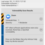 Belarc Security Advisor zjistil zranitelnou aplikaci
