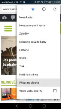 Google Chrome – přidání na plochu (1)