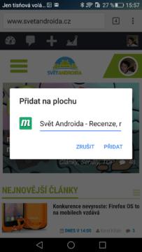 Google Chrome – přidání na plochu (2)