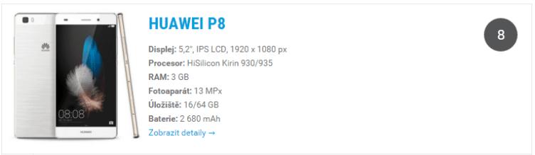 Huawei P8 - widget