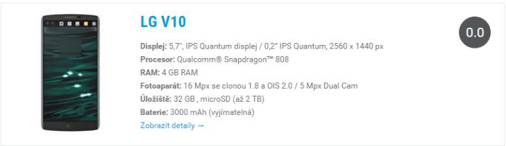LG V10 widget