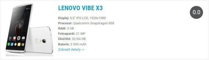 Lenovo Vibe X3 specs 1