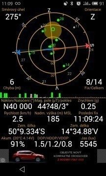 Meizu MX4 - GPS satelity