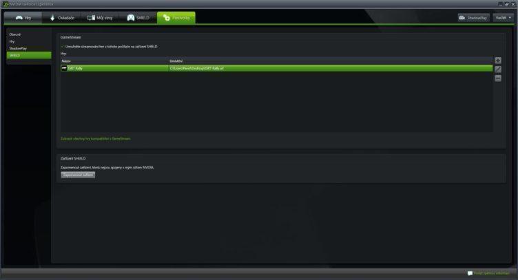 Nvidia Shield Tablet K1 Gamestream
