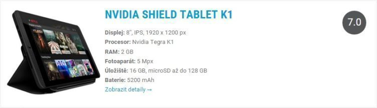 Nvidia Shield Tablet K1 Widget