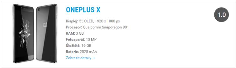 OnePlux X - widget