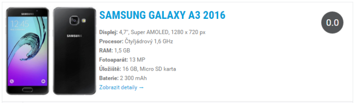 Samsung Galaxy A3 2016 Widget
