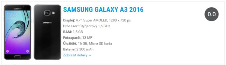 Samsung Galaxy A3 2016 Widget