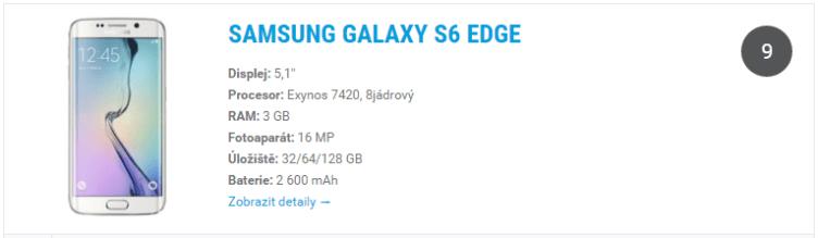 Samsung Galaxy S6 Edge - widget