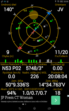 Sony Xperia Z3 Tablet Compact -  GPS satelity