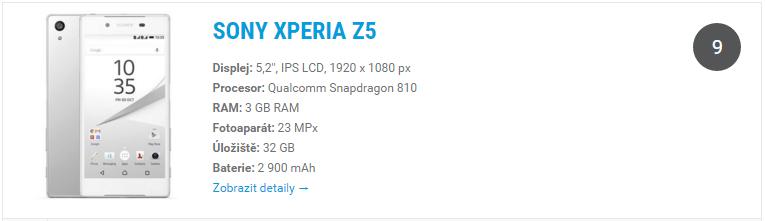 Sony Xperia Z5 - widget