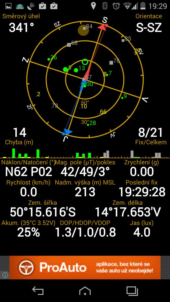 Vertu Aster - GPS satelity