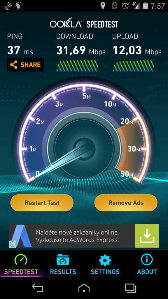 Vertu Aster -  test LTE