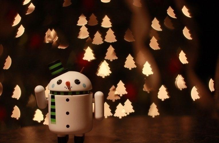android vánoce infografika