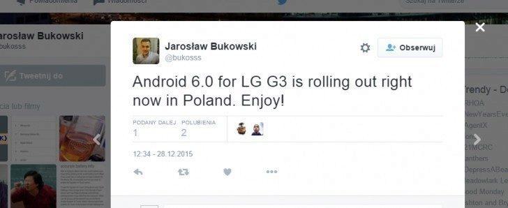 LG G3 aktualizace Marshmallow