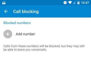 Seznam blokovaných čísel