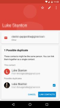 Kontakty najdou duplicity