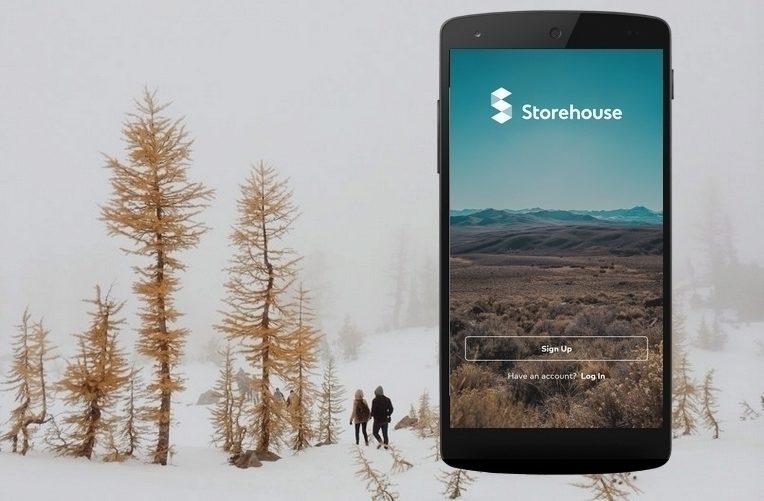 storehouse aplikace koláž android