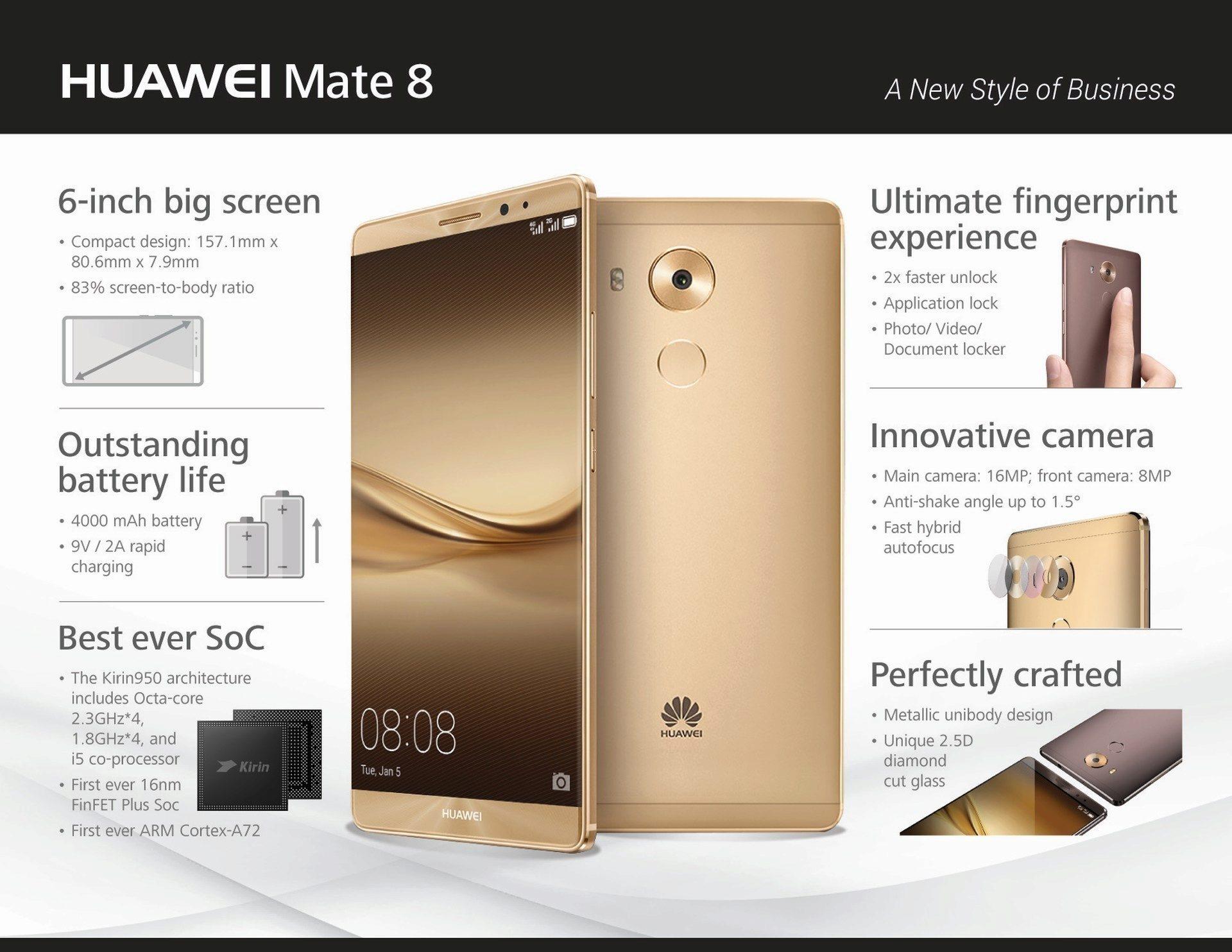 Telefon Huawei Mate 8 Se Chyst 225 Do Prodeje Zn 225 Me Cenu Pro N 225 Trh