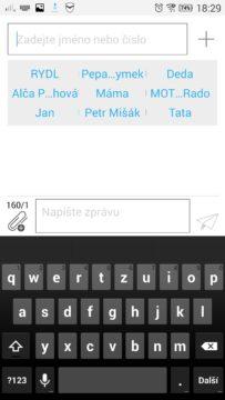 Lenovo Vibe Z2 Pro - klávesnice