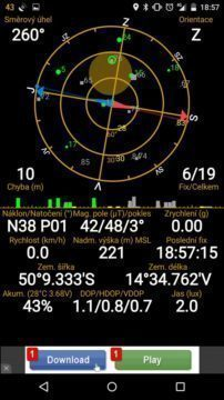 Nexus 6 - GPS satelity