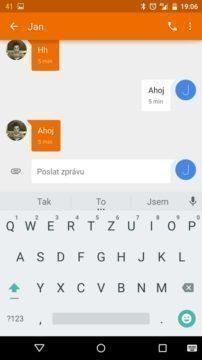 Nexus 6 - klávesnice