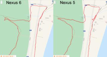 Nexus 6 vs. Nexus 5 srovnání - GPS