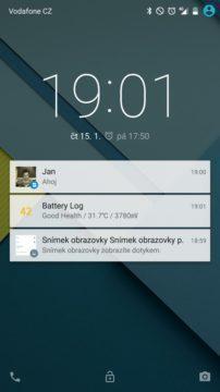 Nexus 6 - zamykací obrazovka