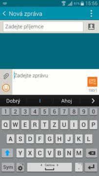 Samsung Galaxy A5 - klávesnice