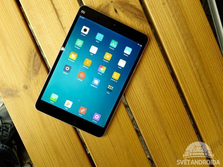 Xiaomi Mi Pad 2 - konstrukce, přední strana