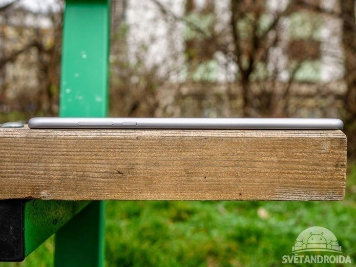 Xiaomi Mi Pad 2 - konstrukce, pohled z boku