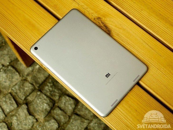 Xiaomi Mi Pad 2 - konstrukce, zadní strana