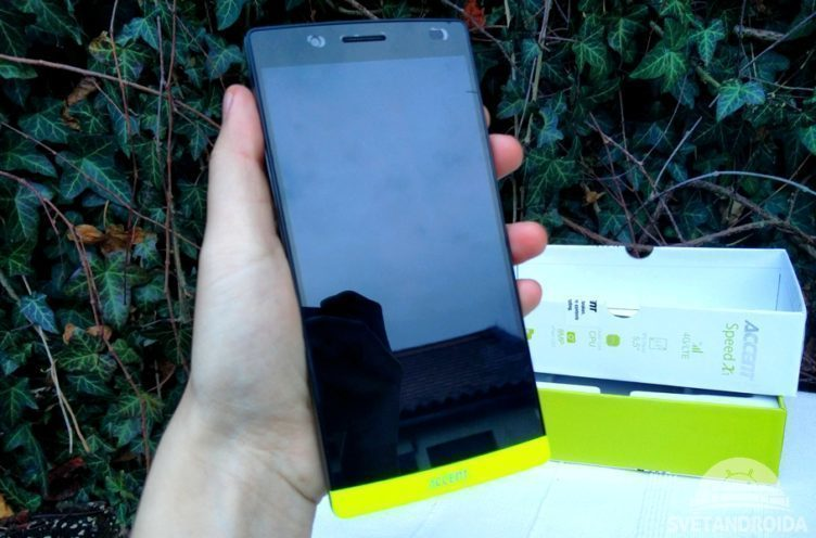 accent speed X1 - telefon v ruce