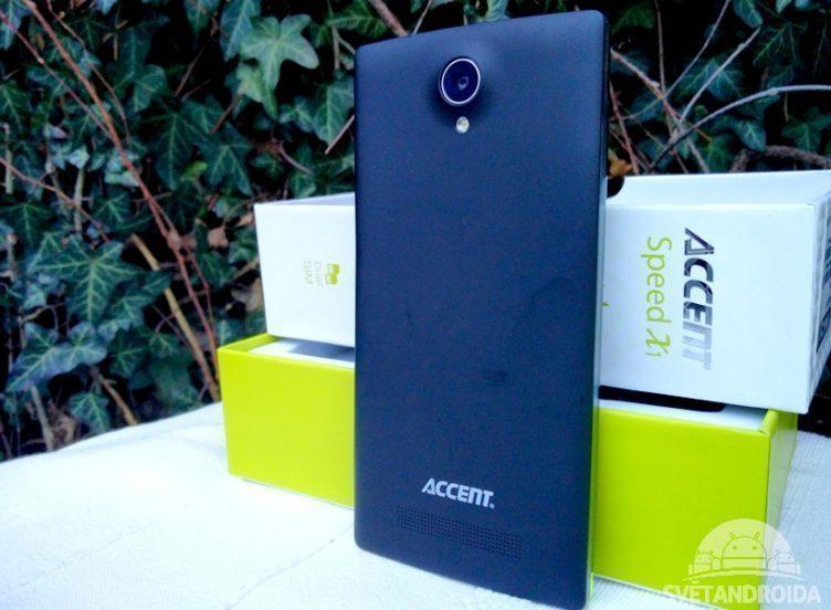 accent speed X1 - zadní strana černá